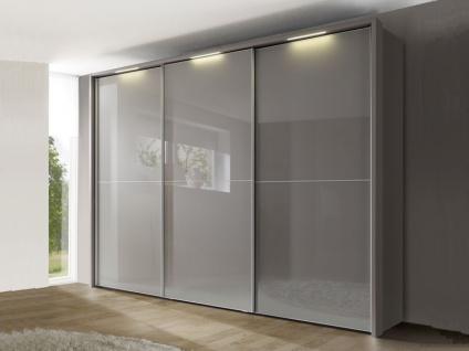 Nolte Marcato Schwebetürenschrank Kleiderschrank Ausführung 2C Korpus, Glasfrontvarianten wählbar