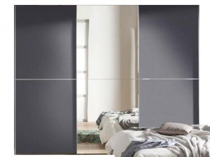 Nolte Express Möbel One 310 Schwebetürenschrank 3-türig Teilfront mit Spiegelauflage mittig und Dekor bei den äußeren Türen und mittiger Zierleiste Schrankhöhe wählbar