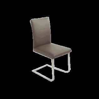 K+W Silaxx Stuhl 6197 Game VII mit einer Sattlernaht im Sitz und Rücken in einer Vielzahl an wählbaren Bezügen in Stoff oder Leder und mit einem wählbaren Fußgestell