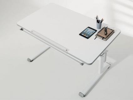 Paidi Schoolworld Diego 120 Schreibtisch höhenverstellbar und Schrägstellung der Tischplatte möglich Gestell in weiß und Tischplatte in kreideweiß - Vorschau 2