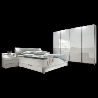 Wiemann Shanghai 2 V.i.P. Schlafzimmer mit Futonbett Schwebetürenschrank 2 Nachtschränken mit Paneele Liegefläche wählbar