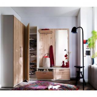 Wittenbreder Roubaix Vorschlagskombination Nr. 08 komplette Garderobe für Ihren Flur und Eingangsbereich 7-teiliges Garderoben-Set im Dekor Weiß matt und Sanremo Eiche - Vorschau 2
