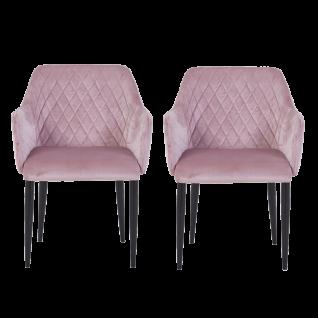 Sit Möbel SIT&CHAIRS Schalensessel im 2er-Set no. 24 Bezug Samtstoff rosa Gestell schwarz
