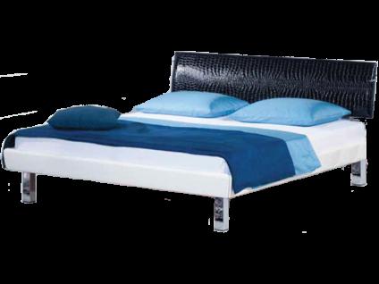 Neue Modular Primolar Colorado Bett mit Polsterkopfteil Oledo und Eckfüße verchromt Liegefläche ca. 180x200 cm optional mit Nachtkommode Garda wählbar