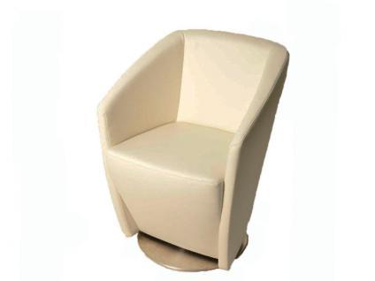 K+W Silaxx Venezia Drehsessel 6069 1D bodennah KW Möbel Dinner Sessel für Esszimmer Bezug und Kontrastfaden wählbar
