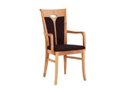 Dkk Klose Sessel S8 mit Armlehnen und geteilter gepolsterter Rückenlehne Polsterstuhl 731 für Esszimmer in drei Polstervarianten Gestell und Bezug in großer Auswahl erhältlich