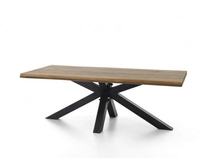 Bodahl Chicago Esstisch rustic oak mit Baumkante Massivholz Tisch ca. 110 cm breit Speisezimmertisch in sechs Längen und sieben Ausführungen wählbar