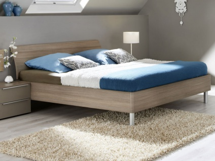 Nolte Elino Bett Doppelbett 2 gerundet mit Holz-Rückenlehne gerundet in verschiedenen Größen lieferbar