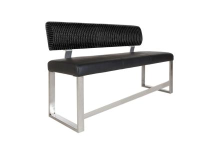 MWA Aktuell Tresenbank NEO mit Rückenlehne für Ihr Esszimmer Sitzbank mit wählbarem Bezug und wählbarer Gestell-Ausführung