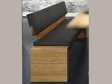 Wimmer acerro Sitzbank mit Rückenlehne Sitzfläche und Rücken fest gepolstert mit Massivholzteilen für Esszimmer und Küche
