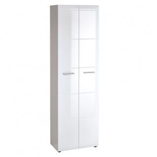 Germania Adana Garderobenschrank 3577-84 im Dekor Weiß mit hochglänzenden Fronten Schrank mit zwei Türen für Flur oder Garderobe