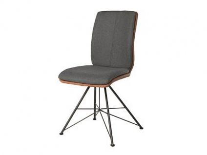 Bert Plantagie Stuhl Tara Spin 813C Komfort Bi-Color-Mattenpolsterung (zweifarbig) Polsterstuhl für Esszimmer Esszimmerstuhl Gestellausführung und Bezug in Leder oder Stoff wählbar