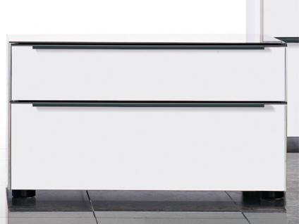 Nolte Alegro Trend Nachtschrank Korpus und Front in Dekor Polarweiß PG1 mit Glas-Oberplatte in Weißglas Größe wählbar
