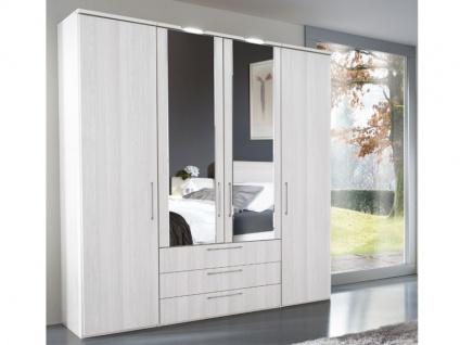 Nolte Horizont 4500 Drehtürenschrank in verschiedenen Dekoren wählbar 4-türig mit 3 Schubkästen 2 Türen mit Facettenspiegel