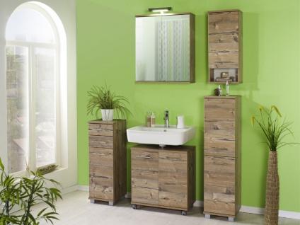 W. Schildmeyer Möbel Badezimmermöbel Set 5-tlg. für Badezimmer mit Spiegelschrank und Highboard