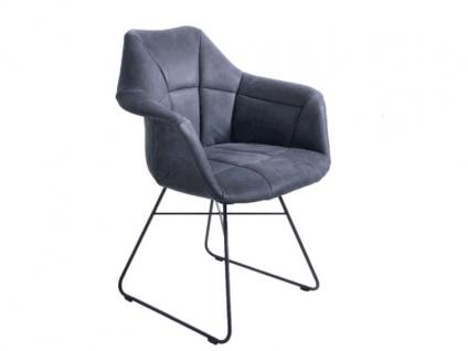 K+W silaxx 6257 Stuhl AA Sessel mit Kufen Bezug Stoff oder Leder wählbar
