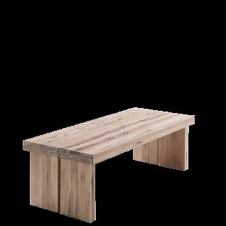 MCA Furniture Tisch Dublin 220 in Eiche Massivholz lackiert und wählbarer Ausführung ideal für Ihr Wohnzimmer oder Esszimmer