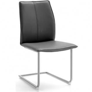 Niehoff Stuhl Capri 7341 mit Schwingstuhlgestell Rundrohr Gestellfarbe und Bezug wählbar ideal für Ihr Esszimmer - Vorschau 4