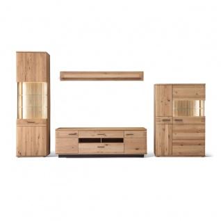 MCA furniture Wohnkombination 4 Salvador Front in Balkeneiche Bianco Massivholz Korpus außen Eiche Bianco furniert geölt Art.Nr. SAD52W04