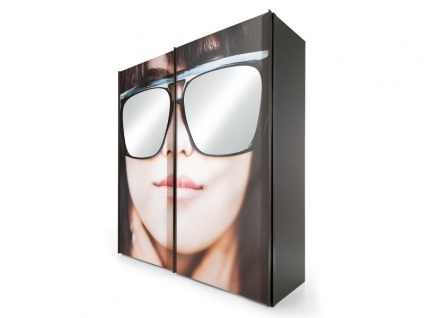 Nolte Express Möbel Sunny Schwebetürenschrank 2-türig Motiv Sonnenbrille in der Breite 200 cm