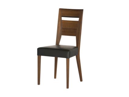 DKK Klose Stuhl S15 für Esszimmer oder Küche Sitz gepolstert in modischen Stoffbezügen stilvoller Holzrücken mit Stoff- oder Metallapplikation