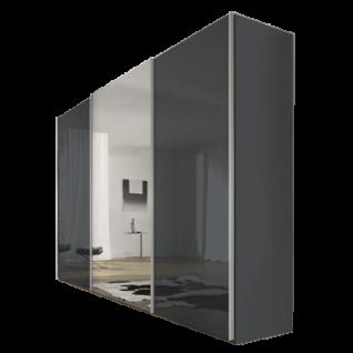 Nolte Möbel Savena / Evena Schwebetürenschrank Korpus in Dekor mit Glasfront und Kristallspiegel Größe und Farbausführung wählbar optional Dämpfung