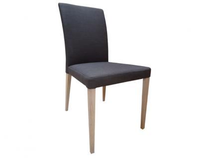 DKK Klose Stuhl S44 auch zweifarbig mit Komfortschaumpolsterung im Sitz und Gummigurtpolsterung im Rücken Stuhl für Wohnzimmer und Esszimmer Bezug in vielen Stoffen und Echtleder wählbar