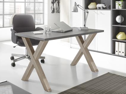 Mäusbacher Mister Office Schreibtisch mit wählbarer Gestellform Tischplattengröße und mit wählbarem Dekor für Tischplatte und Gestell Schreibtisch für Ihr Arbeitszimmer Büro oder Homeoffice - Vorschau 2