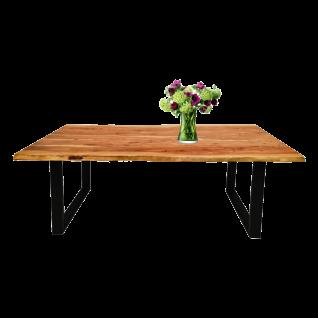 Sit Möbel Esstisch ca. 200 x 100 cm Tischplatte aus Akazienholz Gestell schwarz lackiert