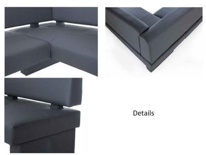Standard Furniture Polsterbank Domino mit Stoffbezug Eckbank Bank für Esszimmer und Küche im Bezug Grand Farbe Größe und Ausführung wählbar - Vorschau 4
