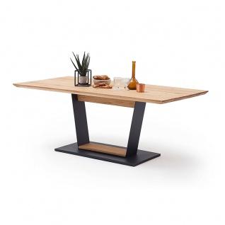 MCA furniture Malambo Esstisch mit fester Platte Art.Nr. M116KSBE Tischplatte Balkeneiche Massivholz geölt mit durchgehenden Lamellen