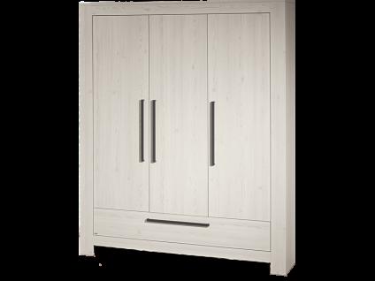 Paidi Laslo Kleiderschrank 3T1S mit 3 Türen und 1 Schubkasten in Nordic-Wood-Nachbildung