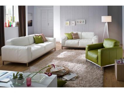 Lounge 7467 von K+W Polstermöbel Kombination bestehend aus Sofa 2, 5-sitzig, Sofa 2, 5-sitzig groß und Sessel Polstergarnitur Couch für Wohnzimmer Sofa in Bezug Stoff oder Leder wählbar