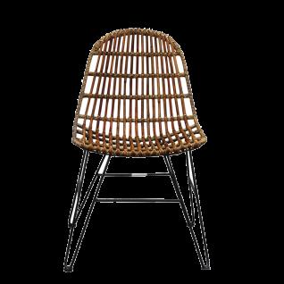 Sit Möbel RATTAN Stuhl aus Rattan ungeschält und Metall