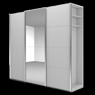 Nolte Möbel Marcato 2.5 Schwebetürenschrank Ausführung 5 mit 5 waagerechten Sprossen 20er-Außenregal Schrankgröße Farbausführung frei konfigurierbar