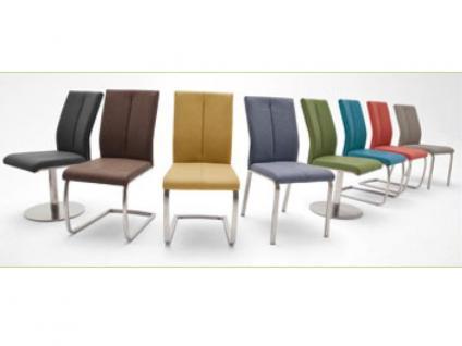 MCA Stuhlsystem Flores 2er Set Stuhl Ausführung C mit Kunstleder Argentina, Bezugsfarbe und Gestell wählbar