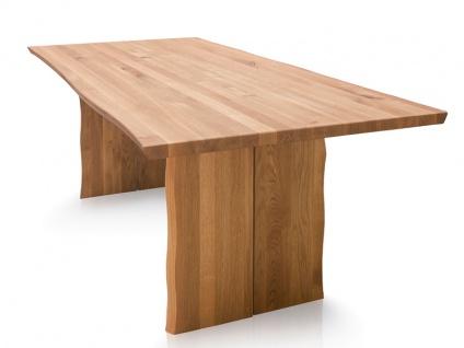 Schösswender Oviedo 2 Baumtisch in Wildeiche geölt Massivholz ohne Auszug und ohne Mittelfuge ideal für Ihr Esszimmer