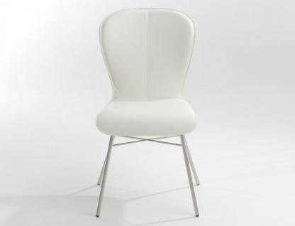 Stuhl 612 Blake Four von Bert Plantagie mit Bi-Color-Polsterung für Esszimmer Esszimmerstuhl Gestellausführung und Bezug in Leder oder Stoff wählbar