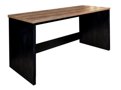 Mäusbacher Bartisch Step 0548_180 rechteckiger Tisch ca. 180x75cm für Esszimmer oder Partyraum mit wählbarer Tischplattensusführung Gestell in Schwarzstahl Dekor