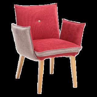 Standard Furniture Polstersessel Genua 1 und Genua 2 für Wohnzimmer oder Esszimmer in zwei Rückenvarianten erhältlich Bezug und Gestell wählbar