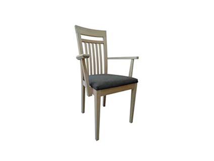 DKK Klose Sessel S27 Sitzkomfort wählbar für Esszimmer oder Küche Holzsprossen im Rücken Bezug und Holzfarbton wählbar