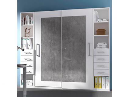 Röhr-Bush objekt.plus Büroschrank-Kombination 3-teilig bestehend aus einem Schwebetürenschrank und 2 Regalen mit je 4 Ordnerhöhen