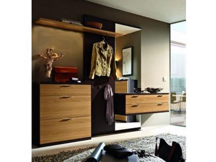 RMW Rietberger Sienna Garderobe 31418 für Flur Garderobenvorschlag in Lack oder Furnier Ausführung Front, Korpus und Griffe wählbar