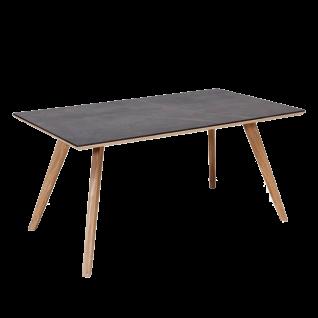 Standard Furniture Factory Esstisch Trondheim ca. 140x 90 cm Tischplatte Dekton Fossil grau Tisch für Esszimmer
