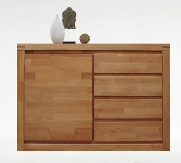 ELFO Kommode DELFT mit 1 Tür und 4 Schubkästen, Beimöbel Massivholz, Schlafzimmeranrichte Art. Nr. 6242, viel Stauraum für Ihr Schlafzimmer oder Wohnzimmer
