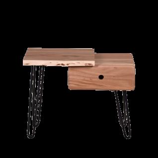 Sit Möbel EDGE Nachtkommode aus Akazienholz mit Metallbeinen im Industrie Stil