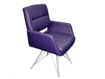 K+W Silaxx 6115 SC Sessel mit Vierfuß Edelstahl mit Metallstreben KW Möbel Sessel für Esszimmer Bezug wählbar Stuhlsystem H2O