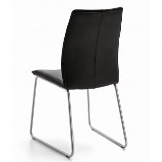 Niehoff Stuhl Capri 7331 mit Rundrohr-Kufengestell Bezug und Gestellfarbe wählbar ideal für Ihr Esszimmer - Vorschau 2