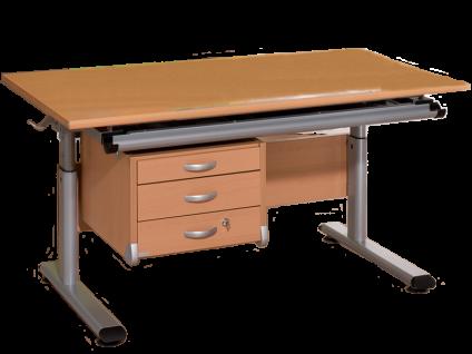 Paidi Schoolworld Marco 2 120 Schreibtisch mit Universal Container in Buche massiv