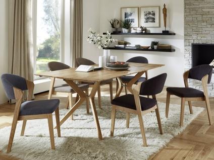 Niehoff Bozen Essgruppe 7-teilig bestehend aus Design-Tafel 6943 und sechs Design Polsterstühlen 4561 für Speisezimmer, Küche oder Wohnzimmer